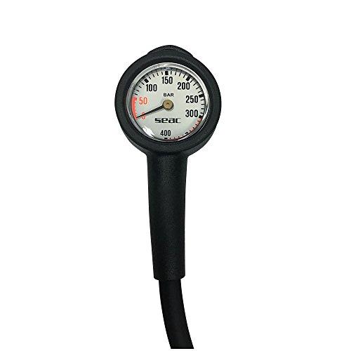 SEAC Manometer, Schwarz/Rot, Schwarz/Rot