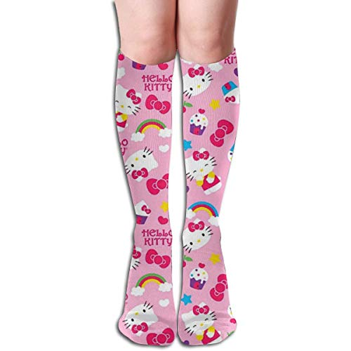 NHUXAYH Calcetines hasta la rodilla Hello Kitty con calcetines Icecream Cool Dress para niña mujer