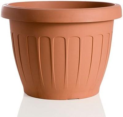 Bama Vaso in Resina, Color Terracotta, Ø15cm, 3 lt