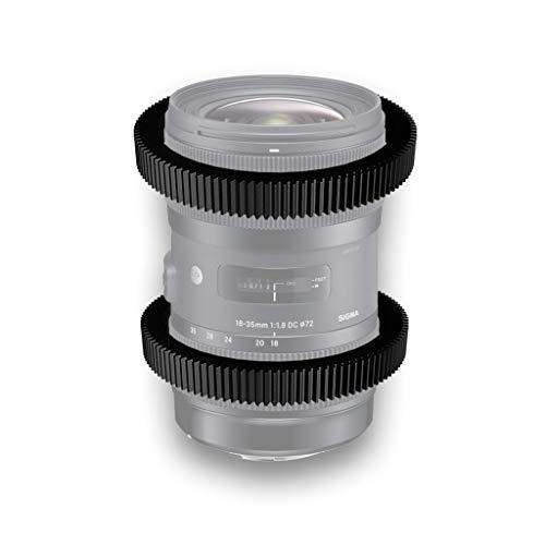 Anillo Follow Focus/Zoom para Sigma 18-35 mm F1.8 (enfoque de seguimiento + anillo de zoom)