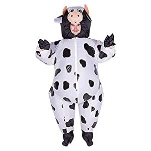 mrcos ハロウィン インフレート 乳牛 着ぐるみ 膨らむコスチューム 空気充填 面白グッズ 動物 コスプレ ハロウィン 仮装 大人用