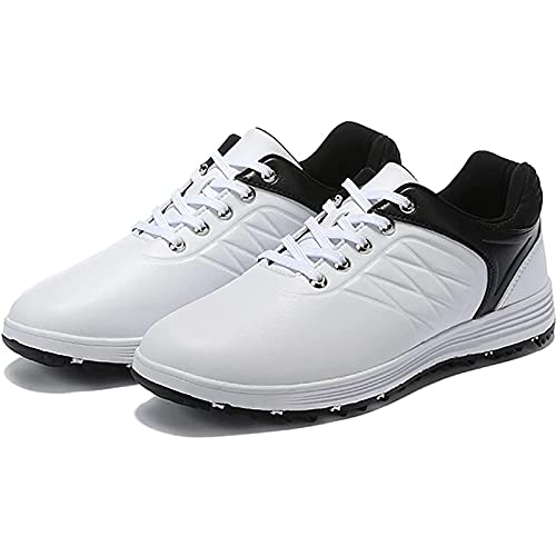 WBF Heren Golfschoenen, Anti-Skid Ademend Golfschoenen Outdoor Sneakers Lichtgewicht Waterdichte Spikeless Golfschoen - Vier Seizoenen Gebruik