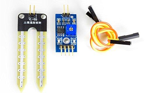 MissBirdler Feuchtigkeitssensor Blumenerde Hygrometer f. Arduino Raspberry Pi YL-69 SBT4447