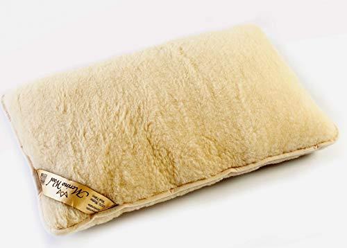 1 x Merinowolle Gütezeichen Kissen Schlafkissen 900g Merino Wolle 40 x 80cm Schurwolle