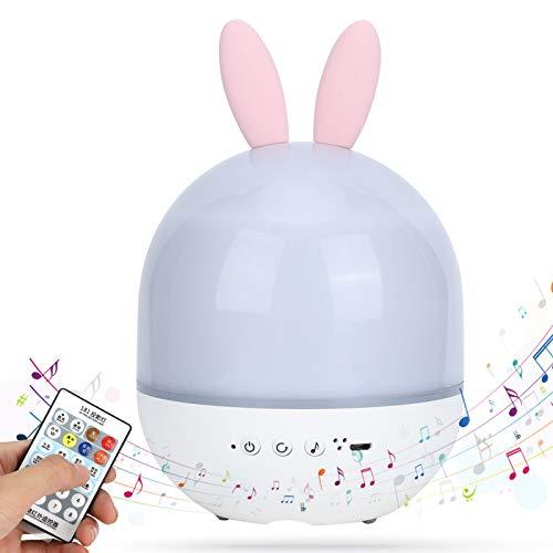 Jacksing con Control Remoto 360 Grados Giratorio Seguro y Duradero proyector de Estrellas Nocturno, función luz Nocturna de Estrellas, Cambio de Color para Dormitorio, bebés y(Cute Rabbit)