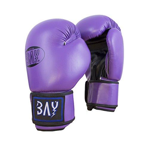 BAY® Future Boxhandschuhe LILA (12 Unzen) Purpur violett schwarz pur pur Box-Handschuhe UZ OZ Damen Kinder Frauen Lady