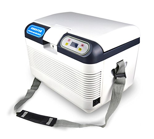 Mini-Kühlschränke Auto Kühlbox, Kompressor Kühlbox Gefrierbox, mit 12/24/220 Volt Anschluss für PKW und LKW, Kapazität 12L