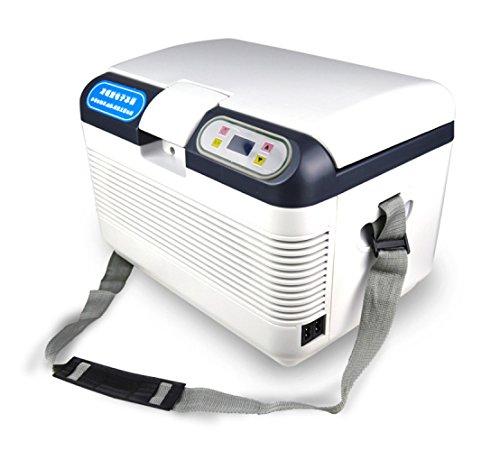 LJ-COOLER Auto Kühlschrank Auto Kühlbox Kompressor Kühlbox Gefrierbox, mit 12/24/220 Volt Anschluss für PKW und LKW 12L