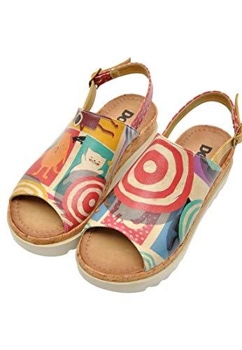 DOGO Gigi Vegan Printed Casual Breathable Walking Fashion Damen Schuhe Sandalen, (Sonntage), 39 EU