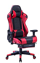 High Back Reclining Gaming Chair with Footrest