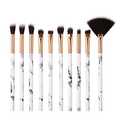 MEIMEIDA Facial Makeup Brush Makeup Tool Makeup Brush For Cosmetic Powder Foundation Eyeshadow Lip Make Up Brushes Set Or Bag, 10Pcs D