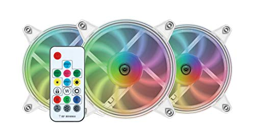 Nfortec Velorum Combo Pack de 3 Ventiladores ARGB para PC con Conector estándar 5v 3pin y Pads antivibración para Reducir el Ruido (Incluye controladora ARGB)