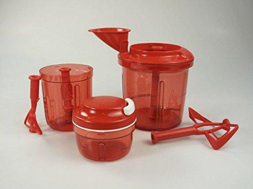 Tupperware Chef Rosso Extra di Chef + espansione multi di Chef + Turbo DI CHEF serbatoio + Lama P 23750