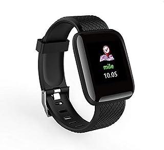 QLKJ Reloj Inteligente Impermeable con Cronómetro Pulsera Actividad Inteligente para Deporte Relojes de Fitness Podómetro Pulsómetro Monitor de Sueñ Calorías Mujer Hombre