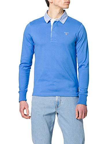 GANT Herren ORIGINAL Heavy Rugger Polohemd, Pacific Blue, XS