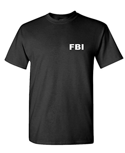 FBI - Novelty Duty Bureau Investigation - Mens Cotton T-Shirt, S, Black