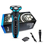NOYMI Electric Shavers for Men Rechargeable Wet&Dry Rotary Razor IPX7 Waterproof Cordless Beard