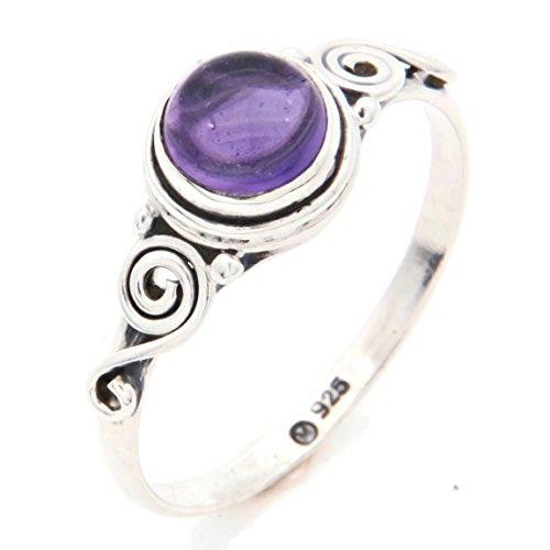 Anello argento 925 con ametista (No: MRI 115), dimensioni anello:58 mm/Ø 18.5 mm