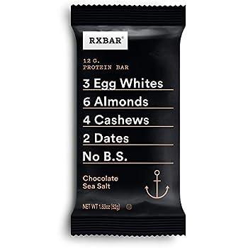 RXBAR Chocolate Sea Salt Protein Bar 1.83 Oz  Pack of 12  High Protein Snack Gluten Free