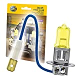 HELLA H3 YL Twin Blister Xtreme Yellow Bulb (12V 55W), 2 Pack