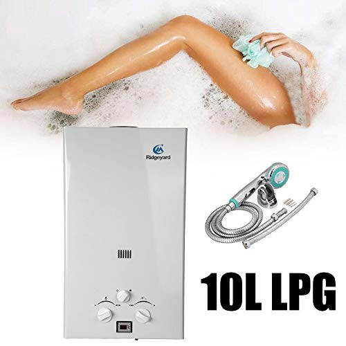 10L LPG Propangas Haushalt Tankless Boiler Durchlauferhitzer LCD-Display Mit Duschkopf