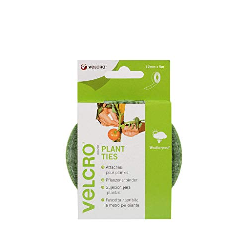 VELCRO - Plant Ties 12mm x 5 Meter grün - Klett-Pflanzenbinder Haft und Flauschteil (BxL) 12mm x 5 Meter grün