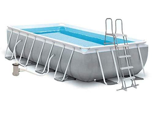 Zwembad op de grond 488 * 244 * 107cm huis tuin outdoor, eenvoudig te installeren met een filter pomp, roltrap.