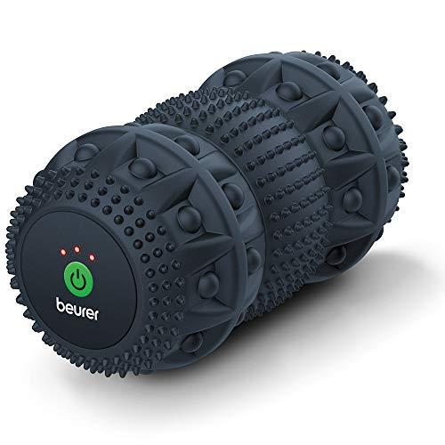Beurer MG 35 Deep Roll Massagerolle mit Vibration, Faszienrolle zur Triggerpunktmassage, 3 Intensitätsstufen, Massagemodus, vielseitig anwendbar, tiefenwirksam