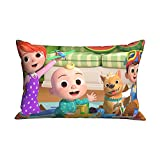 UJM Pillowcase Kid's Sofa Throw Pillow Cover Cocomelon Birthday Cushion Home Living Soft Decorative Bedroom Couch 20 X 30 Inch