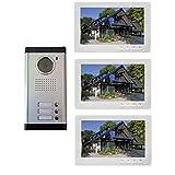 Portero de vídeo en color para 3 viviendas o 3 apartamentos
