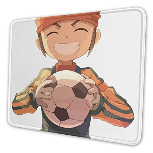 WH-CLA Alfombrillaratón Inazuma Eleven Fútbol Fútbol Fútbol Estudiante Escuela Dormitorio Oficina Alfombrilla Antideslizante para Ratón Alfombrilla para Ratón Portátil con Borde Cosido Es