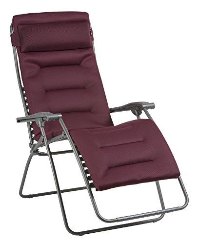 Lafuma Großer Relax-Liegestuhl, Klappbar und verstellbar, RSX Clip XL, Air Comfort, Bordeaux, LFM2041-8720