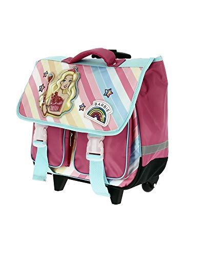 Barbie Schulranzen Trolley Mädchen und Einhorn Gr. One Size, Rosa
