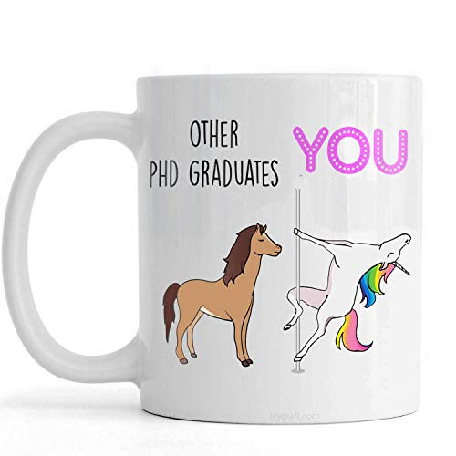 PassionWear PHD regalo de graduación, graduación de doctor, taza de doctorado, idea de regalo de doctorado, graduación de doctorado