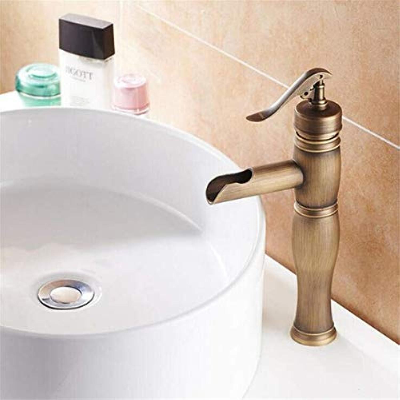 Retro Tippen Moderne Luxus-Vintage-überzugbad Wasserhahn Bad Hohe Toilette Retro Waschbecken Wasserhahn Einzigen Handgriff Waschbecken Wasserhhne Hohe Wasserhahn