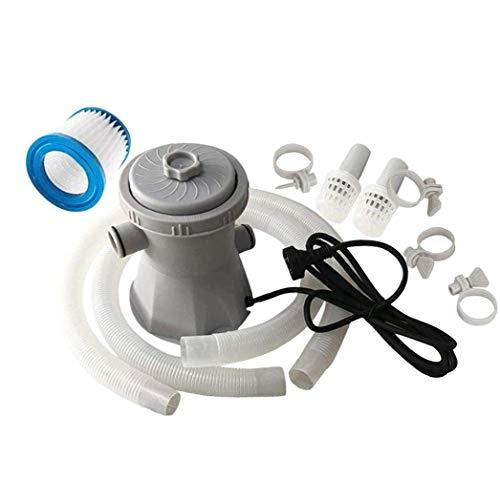 Hotaden 300 Gallon Elektro-Pool Filterpumpe mit Filterpatronen für Planschbecken, Schwimmbäder/Whirlpool/überflutete Keller, 21 x 21 x 22 cm Elektro-Pool Filterpumpe