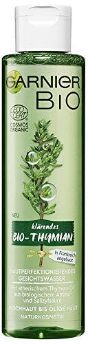 Garnier Bio Gesichtswasser Thymian Öl Gesichtsreinigung, Naturkosmetik, Thymian Hautperfektionierendes Gesichtswasser (1 x 150 ml)