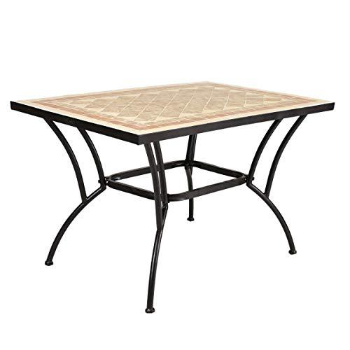 Mesa de jardín para Comedor marrón de cerámica árabe Gar