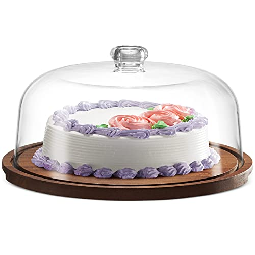 Godinger Cake Stand, Cake Plate Server Platter with Dome,...