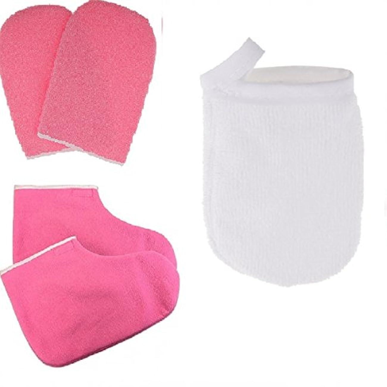 チキンニコチンプランテーションCUTICATE パラフィン蝋手袋およびブーティのスキンケアが付いている表面構造の清潔になる手袋