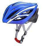 Keenso Casque de Vélo Unisexe, Casque de Cyclisme Casque d'Equitation/d'escalade Réglable pour l'Eté(Blue + White)