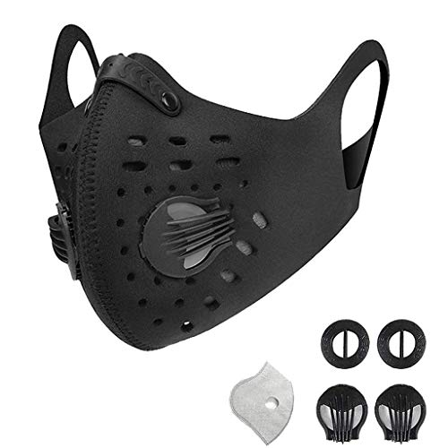 Check Out This Outdoor Cycling Face Protection Bandanas with Breathing Valve - Washable and Reusable...