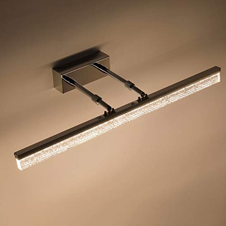 Jizhen LED-Badezimmer-Spiegel-Scheinwerfer-Retro- Spiegel-Kabinett-Verfassungs-Lampe, wasserdichtes Acryl-einziehbare Badezimmer-Lampe (Farbe  Warmes Gelb) (gre   40CM)