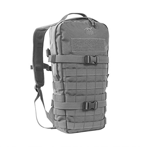 Tasmanian Tiger TT Essential Pack MKII Molle-System 9L Wander Outdoor Rucksack, Carbon, 43 x 22 x 8 cm