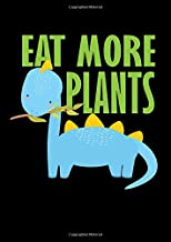Notebook: Dino Kids Vegetarian Vegan School Gift 120 Pages, A4 (About 8,5X11 Inches / Letter), Graph Paper