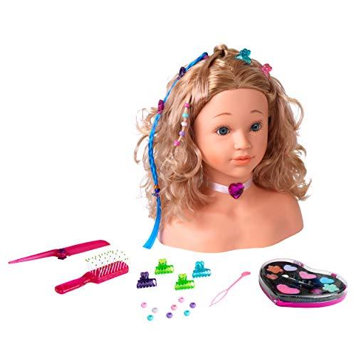 Theo Klein-5240 Coralie Cabeza para Maquillar y Peinar, Juguete, multicolor, única (5240)