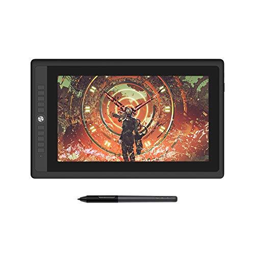 YCHCDR 15.6-inch graphics tablet with battery-free pen, 8192 pressure level plotter, with fully laminated display