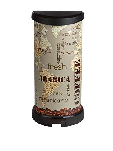 CURVER 213366 Iml Coffee - Cubo de Basura con Pedal 40L, 27.8x32.9x67.7 cm