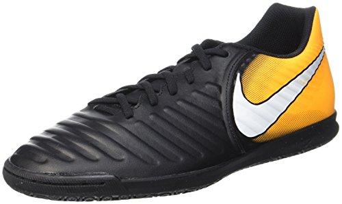 Nike Herren Tiempo X Rio IV IC 897769 008 Fußballschuhe, Schwarz (Black/White-Laser Orange-Volt), 42 EU