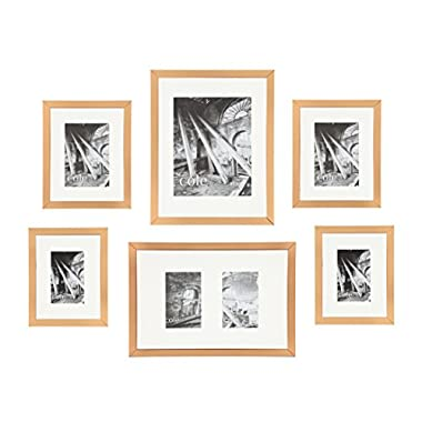 Philip Whitney 6-piece Copper Metallic Wall Hanging Gallery Art Photo Picture Frames Horizontally or Vertically